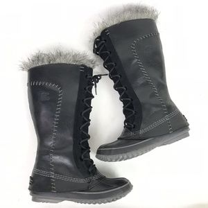 Sorel Cate the Great Boots Black Suede Leather